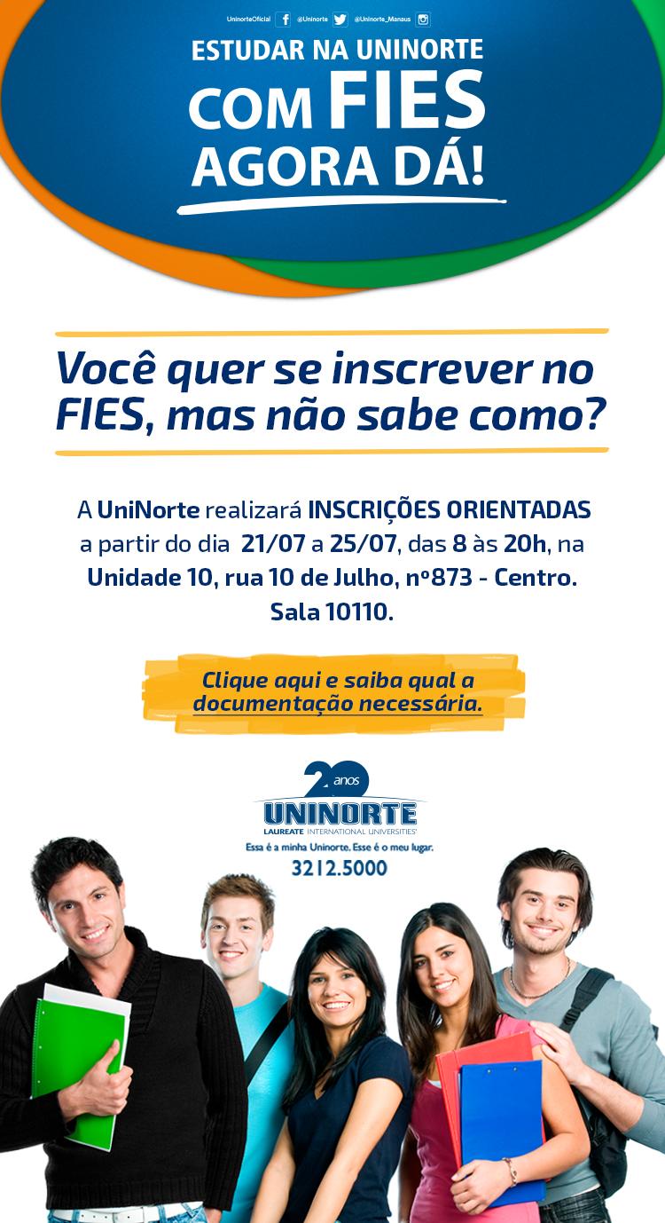 Fies UniNorte oferece inscrições orientadas
